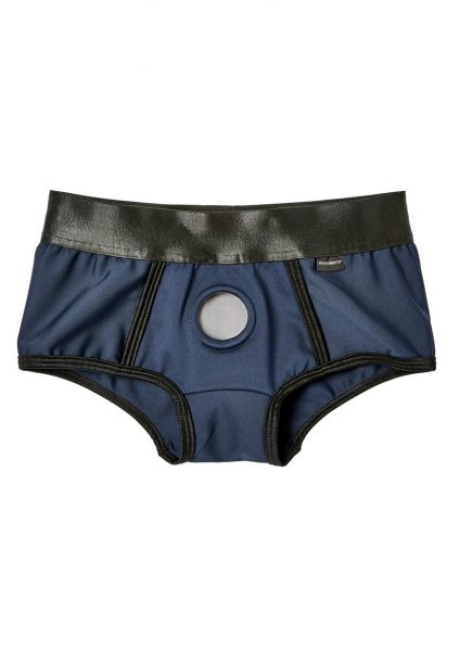 EM. EX. Active Harness Wear Fit Harness Boy Shorts Blue Medium-25-28