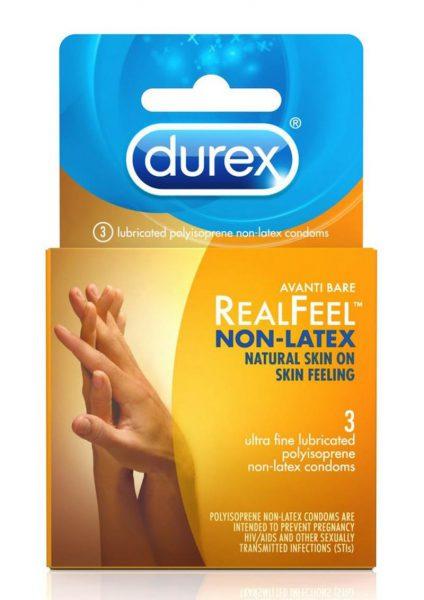 Durex Avanti Real Feel Non Latex Lubricated Condoms 3-Pack