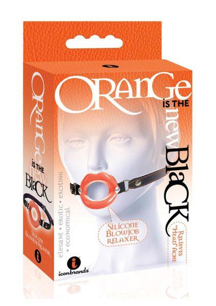 Orange Is The New Black Silicone Blowjob Relaxer Orange