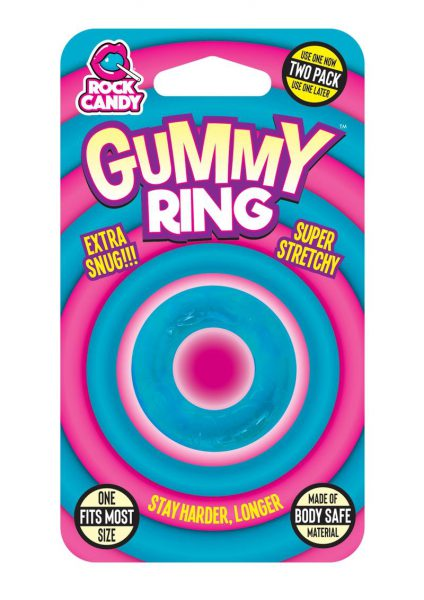 Rock Candy Gummy Ring Cock Ring One Size Fits Most Blue