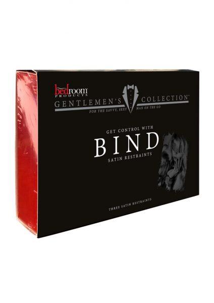 Bedroom Products Gentlemans Collection Bind Satin Restraints Black 3 Piece Set