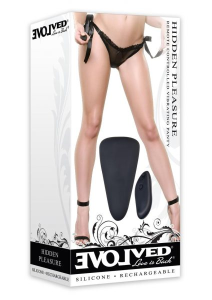 Hidden Pleasure Remote Control Vibrating Panty Silicone Rechargeable Waterproof  Black
