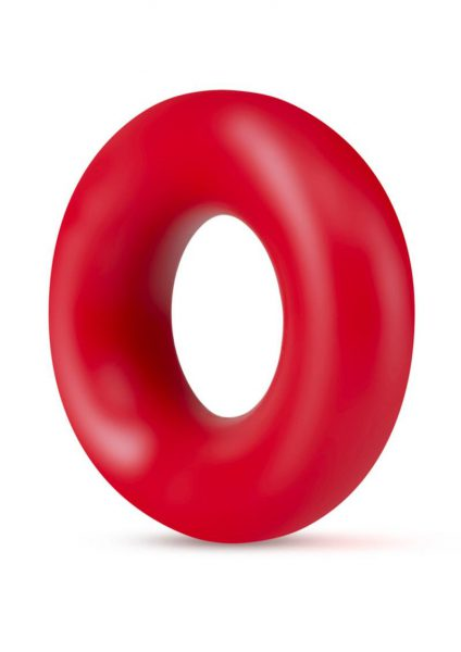 Stay Hard Donut Rings Non Vibrating Cockring  2 piece Set Red