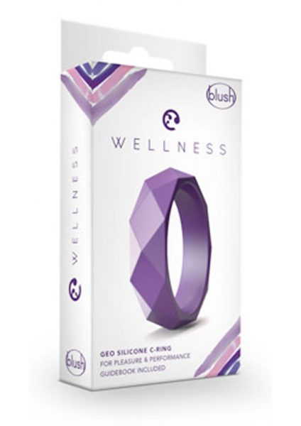 Wellness Geo Cock Ring Silicone Purple
