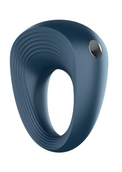 Satisryer Rings 2 Silicone Magnetic Recharge USB Couples Cockring Waterproof Blue