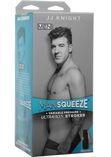 Man Squeeze Men.Com JJ Knight UltraSkyn Stroker Realistic Anus Vanilla 9 Inches
