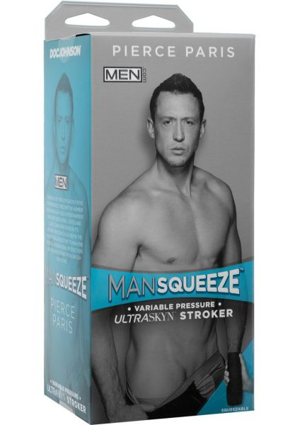Man Squeeze Men.Com Pierce Paris UltraSkyn Stroker Realistic Anus Vanilla 9 Inches