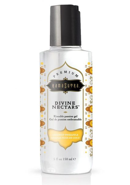 Divine Nectars Kissable Passion Gel Water Based Coconut Pineapple 5 Ounces