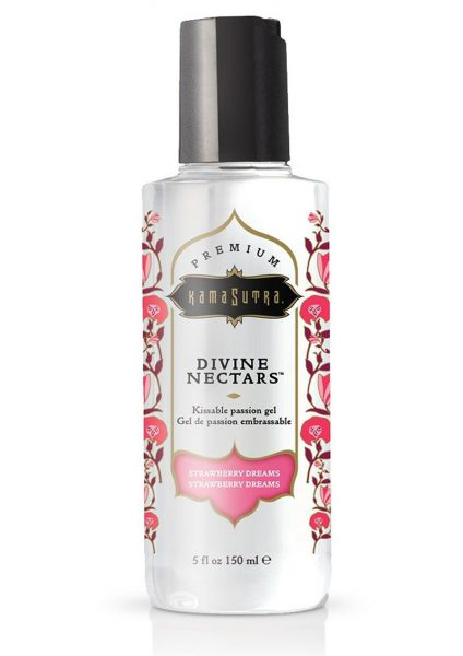 Divine Nectars Kissable Passion Gel Water Based Strawberry Dreams 5 Ounces