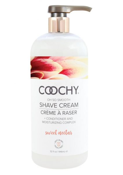 Coochy Shave Cream Sweet Nectar 32 Ounce Pump