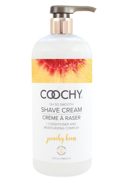 Coochy Shave Cream Peachy Keen 32 Ounce Pump