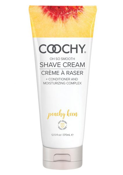 Coochy Oh So Smooth Shave Cream Peachy Keen 12.5 Ounce Tube