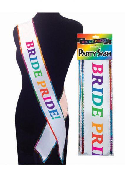 Bride Pride Party Sash Rainbow