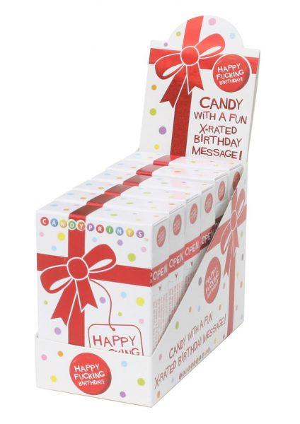 Candy Prints X-rated Birthday Candy 6 Boxes Per Counter Display
