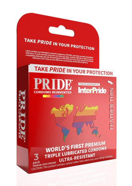 Pride Feather Thin Condoms 3pk